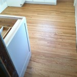 Newly installed red oak with oil sealer and oil finish.