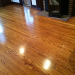 Stained Red Oak after a Buff and Coat.