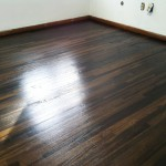 Ebonized hardwood floor.